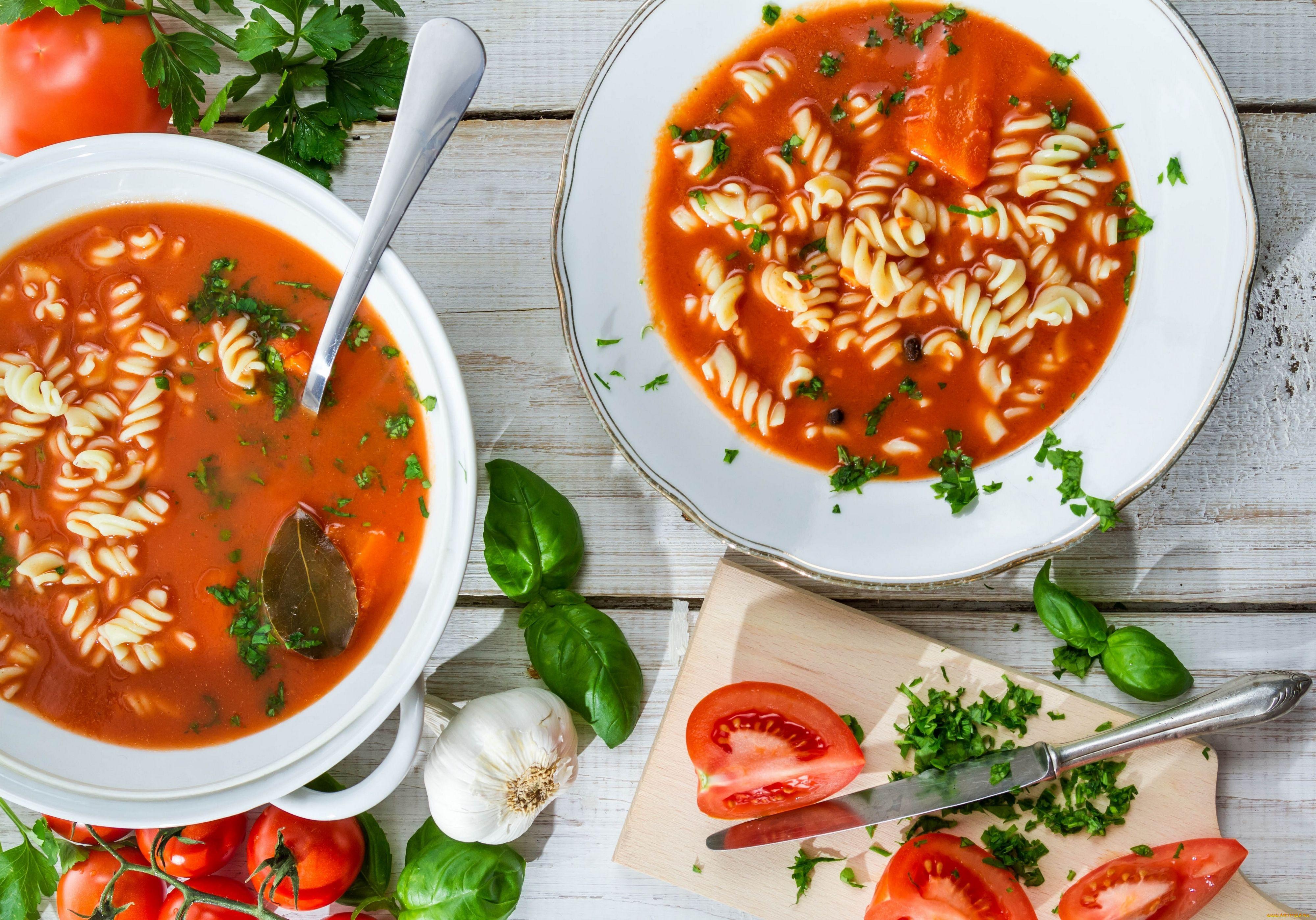 Суп с томатной пастой рецепт